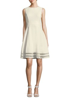 Calvin Klein Sleeveless Fit & Flare Dress