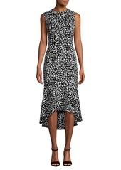 Calvin Klein Sleeveless Floral Hi-Lo Sheath Dress