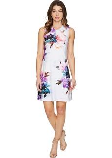 Calvin Klein Sleeveless Floral Jersey Dress