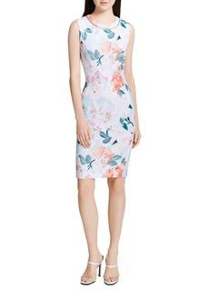 Calvin Klein Sleeveless Floral-Print Dress