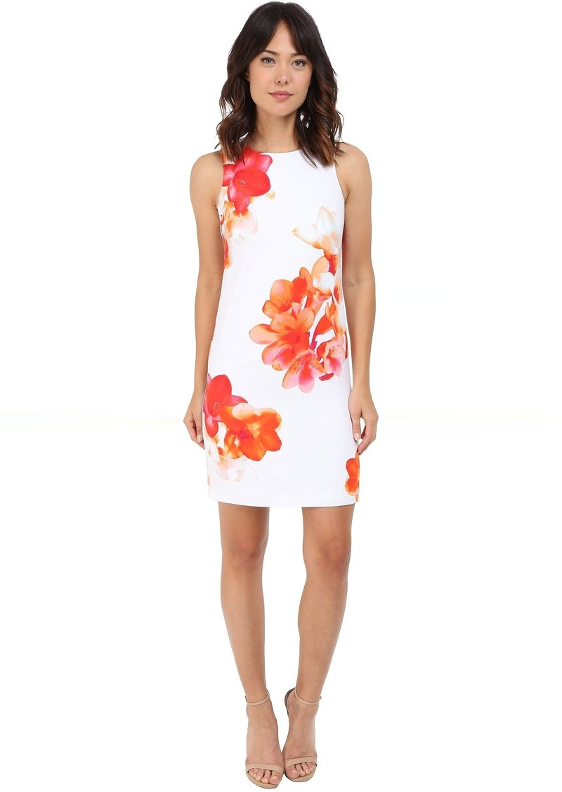 Calvin Klein Sleeveless Floral Shift Dress CD6HAR8D