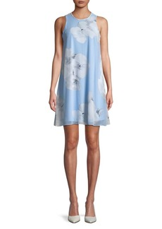 Calvin Klein Sleeveless Floral Smock Dress