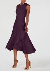 Calvin Klein Sleeveless Flounce-Hem A-Line Dress