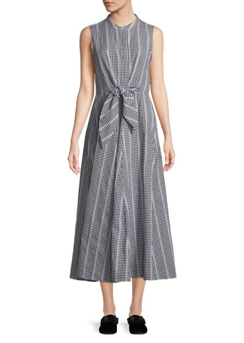 f544d1d39eba0 Calvin Klein Calvin Klein Sleeveless Gingham-Print Midi Dress
