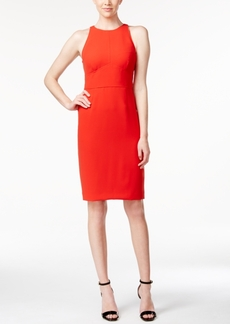 Calvin Klein Sleeveless Halter Sheath Dress