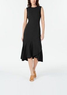 Calvin Klein Sleeveless High-Low Wrap-Hem Dress
