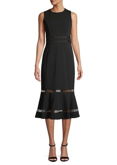Calvin Klein Sleeveless Illusion-Hem Sheath Dress
