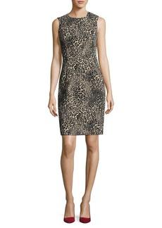 Calvin Klein Sleeveless Jacquard Sheath Dress