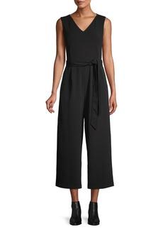 Calvin Klein Cropped Tie-Waist Jumpsuit