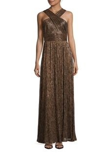 Calvin Klein Sleeveless Metallic Gown