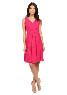Calvin Klein Sleeveless Pin Tuck Fit and Flare Dress CD6G1U7F