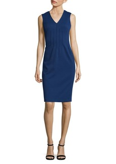 Calvin Klein Sleeveless Pintuck Dress