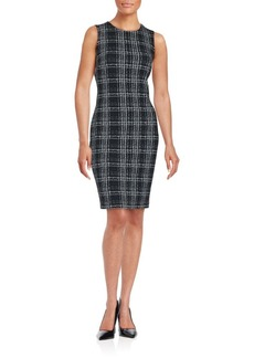 Calvin Klein Sleeveless Plaid Dress
