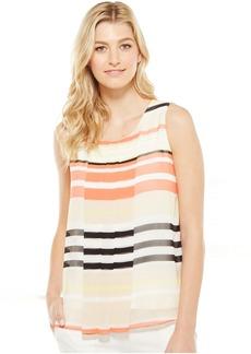 Calvin Klein Sleeveless Print w/ Chiffon Overlay