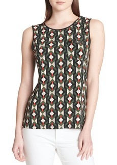 Calvin Klein Sleeveless Printed Blouse