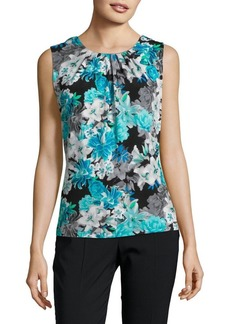 Calvin Klein Sleeveless Printed Blouse