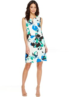 Calvin Klein Sleeveless Printed Sheath with Zipper