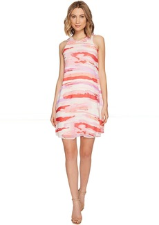 Calvin Klein Sleeveless Printed Trapiz Dress