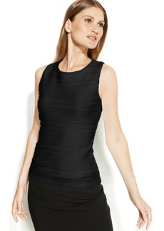 Calvin Klein Sleeveless Ribbed Textured Top