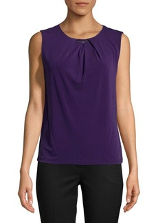 Calvin Klein Sleeveless Ruched Top