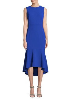 Calvin Klein Sleeveless Ruffle-Hem Midi Dress