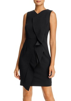 Calvin Klein Sleeveless Ruffled Sheath Dress
