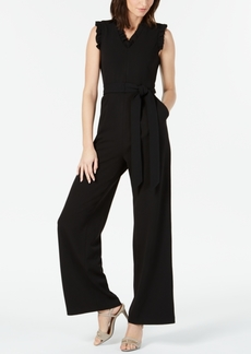 Calvin Klein Sleeveless Ruffled Wide-Leg Jumpsuit