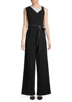 Calvin Klein Sleeveless Self Tie Jumpsuit