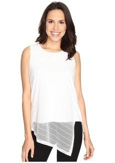 Calvin Klein Sleeveless Sheer Stripe Top