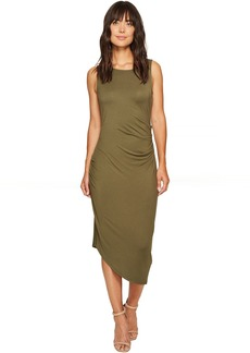 Calvin Klein Sleeveless Side Ruched Dress
