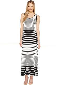 Calvin Klein Sleeveless Stripe Maxi Dress
