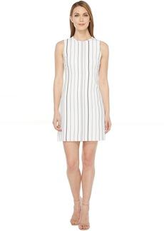 Calvin Klein Sleeveless Stripe Trapeze Dress CD7EYC2R