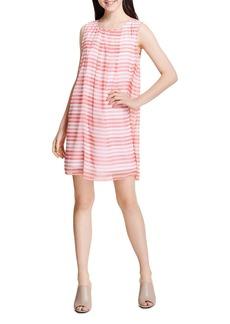 Calvin Klein Sleeveless Striped A-Line Dress