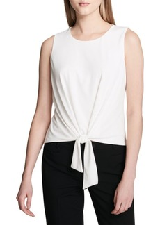 Calvin Klein Sleeveless Tie Front Top