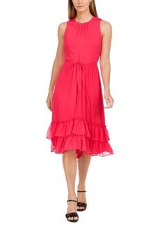 Calvin Klein Sleeveless Tiered-Chiffon Midi Dress