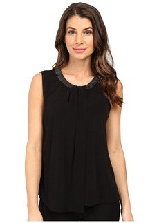 Calvin Klein Sleeveless Top w/ Beads and Draping