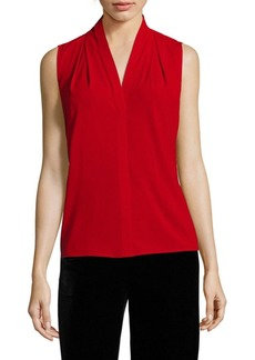 Calvin Klein Sleeveless V-Neck Blouse