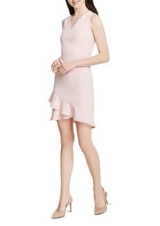 Calvin Klein Sleeveless V-Neck Ruffle-Hem Dress