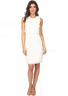 Calvin Klein Sleeveless Window Double Layer Dress