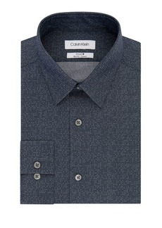 Calvin Klein Slim-Fit Chambray Dress Shirt