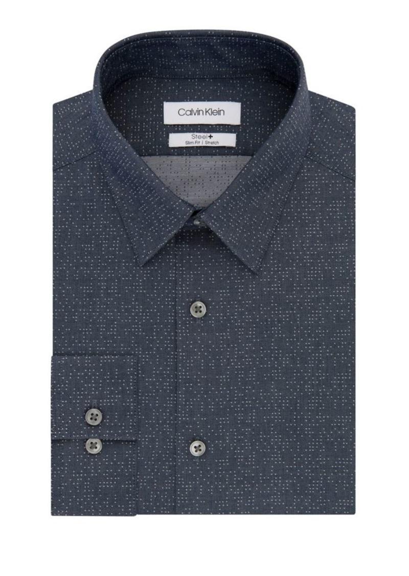 Calvin Klein Slim-Fit Chambray Dress Shirt