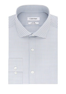 Calvin Klein Slim-Fit Checkered Stretch-Cotton Dress Shirt