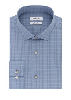 Calvin Klein Slim-Fit Exploded Checkered Dress Shirt