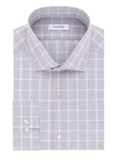Calvin Klein Slim-Fit Plaid Cotton Dress Shirt