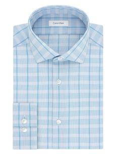 Calvin Klein Slim-Fit Plaid Cotton Dress Shirt