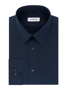 Calvin Klein Slim Fit Point-Stripe Dress Shirt