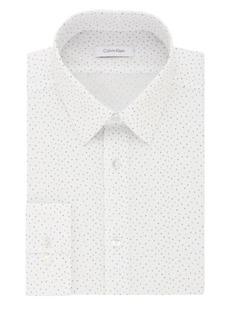 Calvin Klein Slim Fit Printed Cotton Dress Shirt