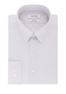 Calvin Klein Slim-Fit Printed Dress Shirt