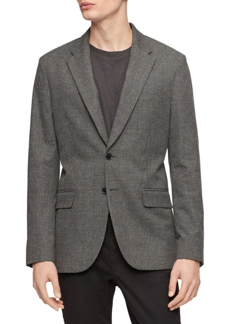 Calvin Klein Slim-Fit Single-Breasted Cotton Jacket
