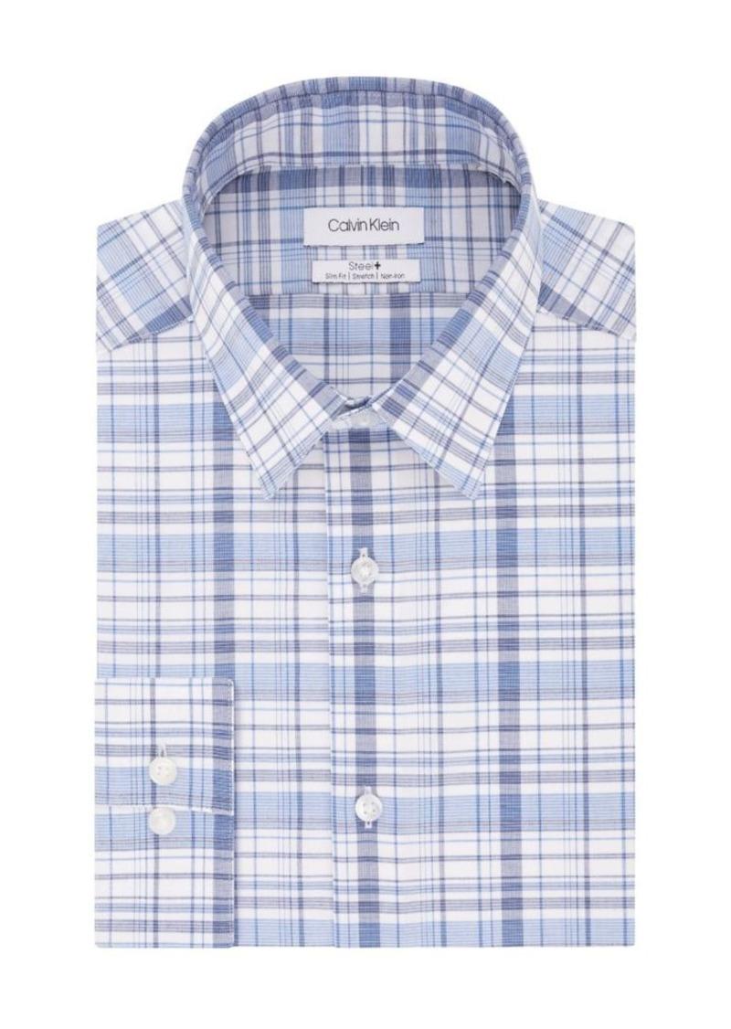 Calvin Klein Slim-Fit Steel Printed Dress Shirt